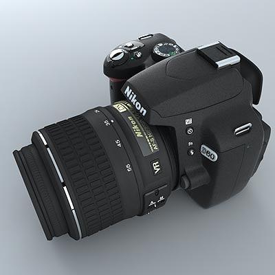 DSLR NIKON D60 3D Models
