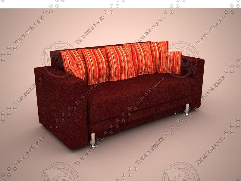 Divan sofa nika 3d max for 0 25 divan saz teli