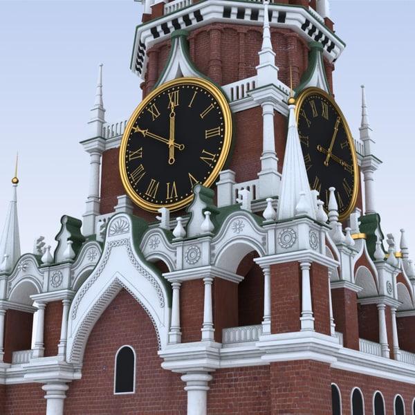 Moscow.Kremlin. Spasskaya Tower 3D Models