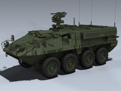M1126 Stryker ICV #2 3D Models