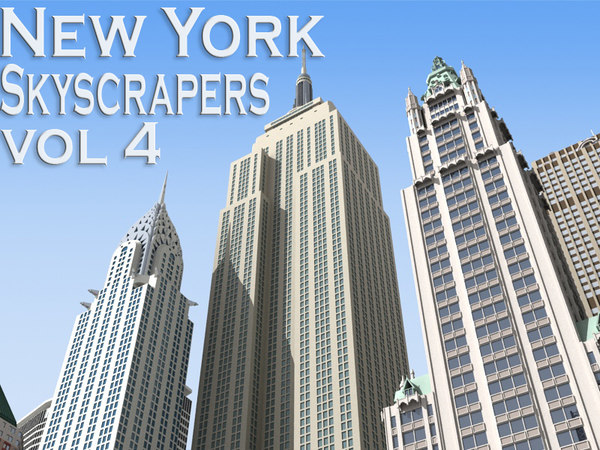 New York Skyscrapers Vol 4 3D Models