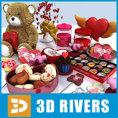 Valentine day collection  by 3DRivers 3D Models