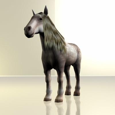 Shire Horse 3D Models