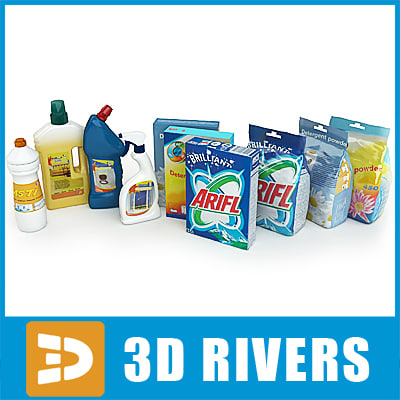 Cleaning supplies by 3DRivers 3D Models