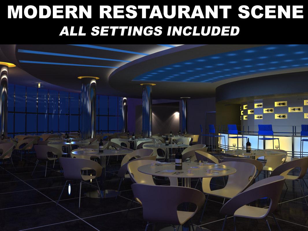 Modern Restaurant Scene