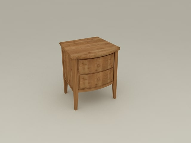 (Bed) Side Table from Nimbus Bedroom Furniture Set - High Quality Furniture 3d model