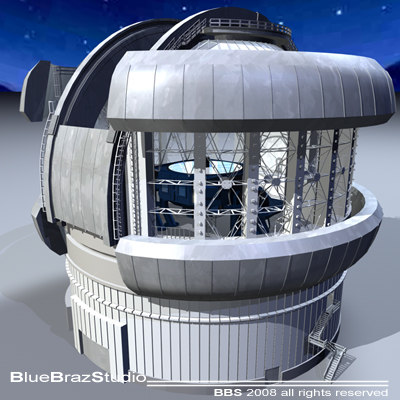 Observatory with telescope Texture Maps