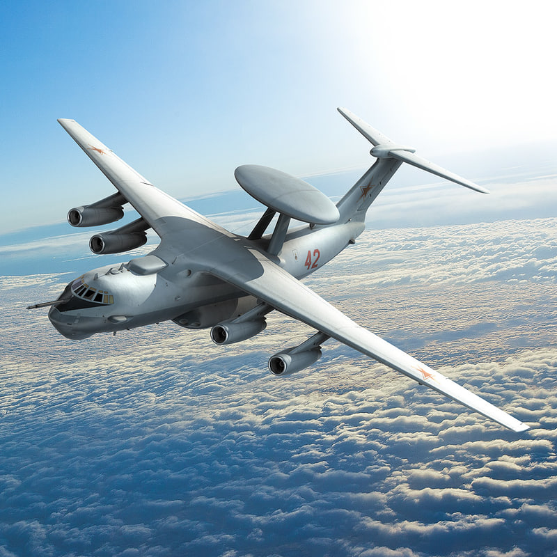Russian Beriev A 50 Aircraft 3d Lwo