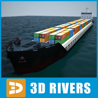Container ship full 01 by 3DRivers 3D Models