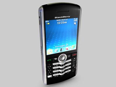 Blackberry Pearl 3D Models