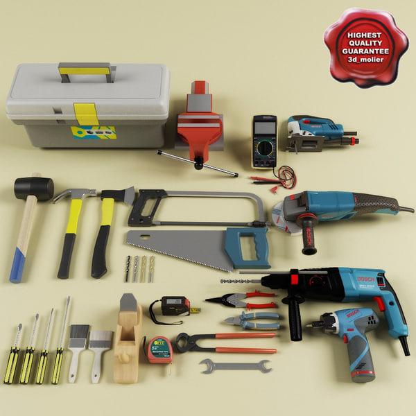 Tools Big collection 3D Models