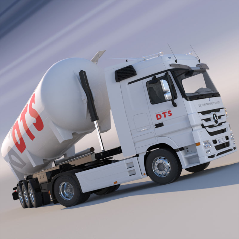 Mercedes Actros with tipping silo