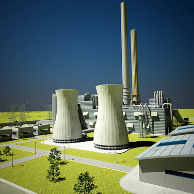 Coal Power Plant 3D Models