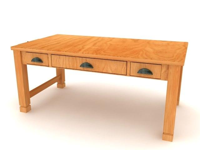 Sedona laptop writing desk - High Quality Furniture 3d model