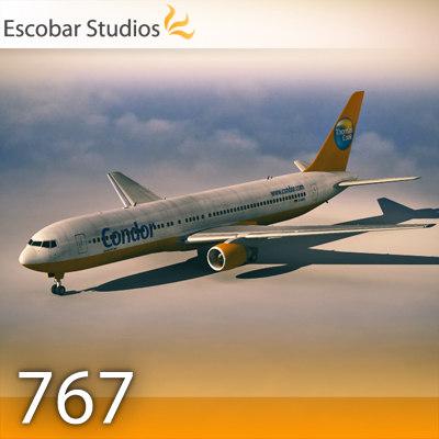 B 767-300 3D Models