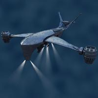 Hunter spacecraft 3D models