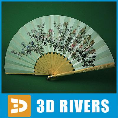 Japanese fan 02 by 3DRivers 3D Models