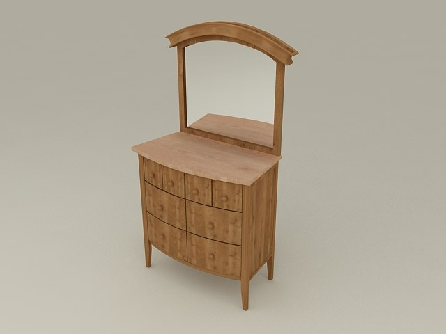 Dressing Table from Nimbus Bedroom Furniture Set - High Quality Furniture 3d model