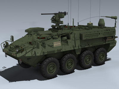 M1130 CV Stryker 3D Models