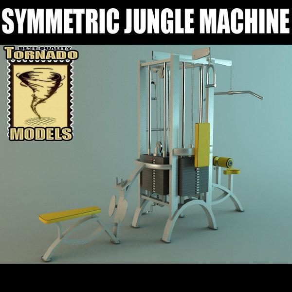 Symetric Jungle Machine 3D Models