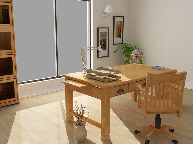Sedona office furniture set - High Quality Furniture 3d model