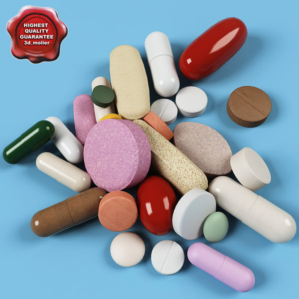 Pills collection 3D Models