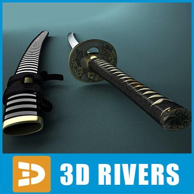 Samurai sword by 3DRivers 3D Models