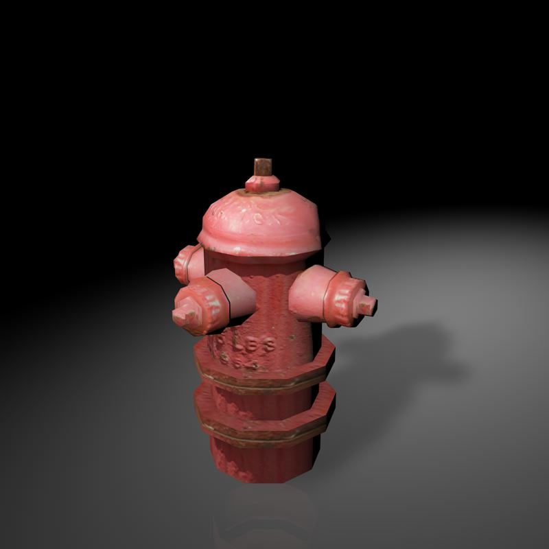 Low-poly Fire Hydrant