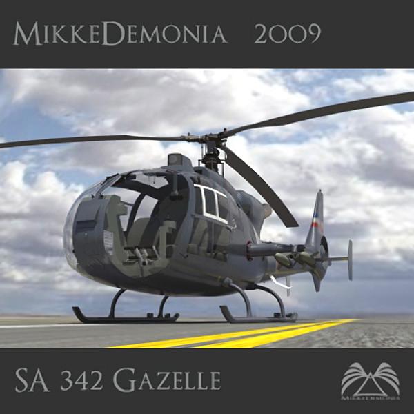 SA 342 Gazelle Gamma 3D Models