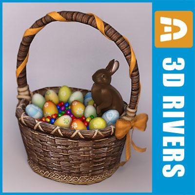 Easter basket by 3DRivers 3D Models