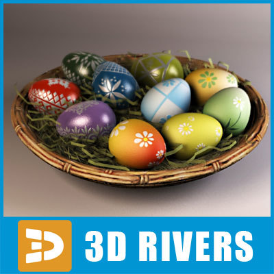 Easter eggs by 3DRivers 3D Models