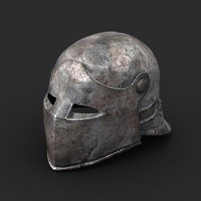 Medieval helmet #01 3D Models