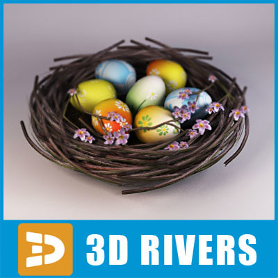 Easter nest by 3DRivers 3D Models