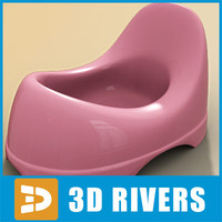 baby toilet 3D models