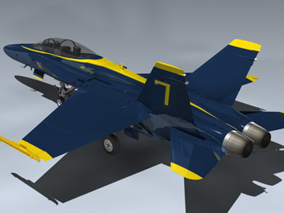 F/A-18B Hornet (Blue Angels) 3D Models
