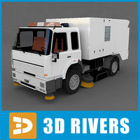 street sweeper 3D models
