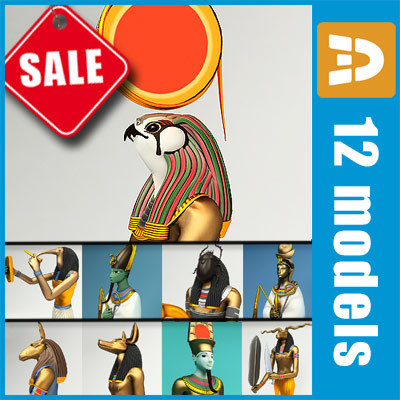 Egyptian gods collection by 3DRivers 3D Models