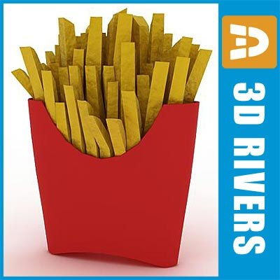 Fries by 3DRivers 3D Models