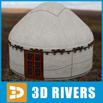 Nomads tent 02 by 3DRivers 3D Models
