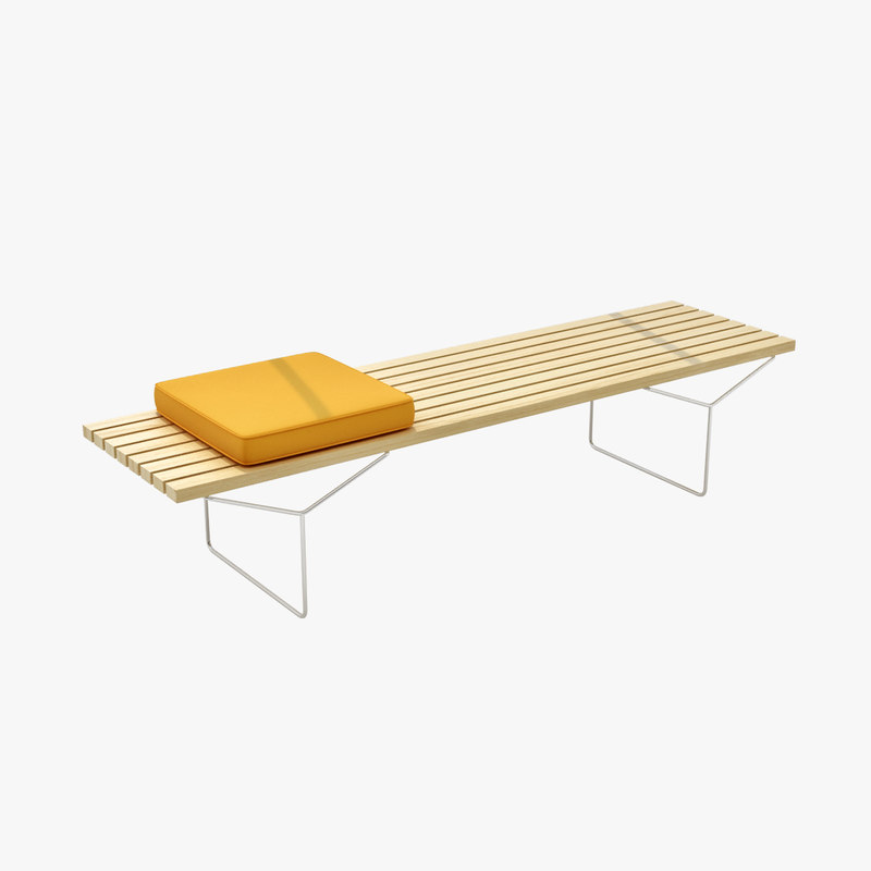 Bertoia Bench With Seat Cushions