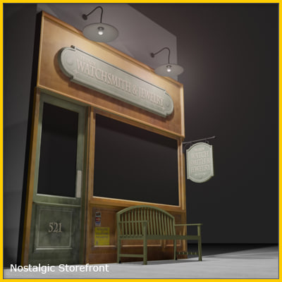 Downtown Storefront 1 Max Texture Maps