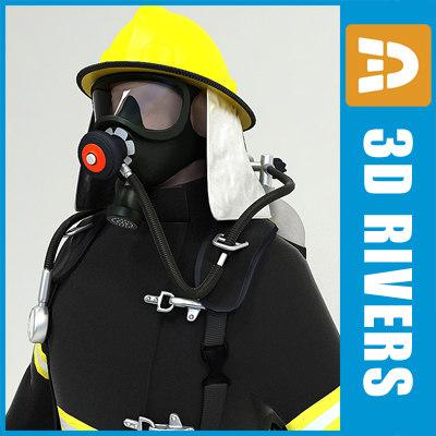 Fireman 01 by 3DRivers 3D Models