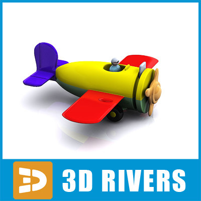 Toy plane by 3DRivers 3D Models