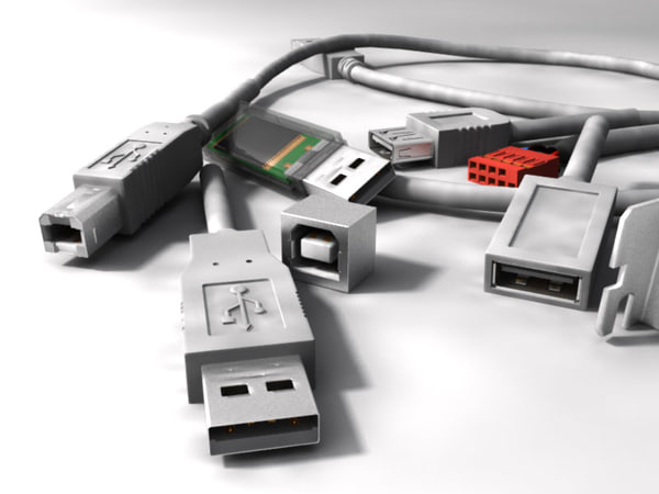 USB Connector Collection 3D Models