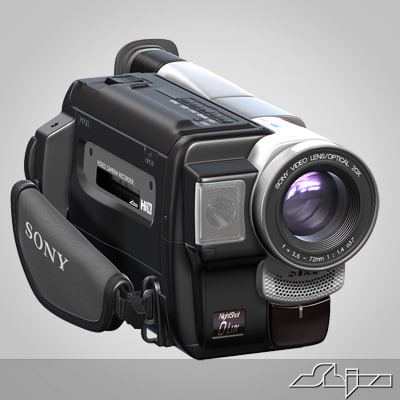 Video Camera Handycam Sony 3D Models
