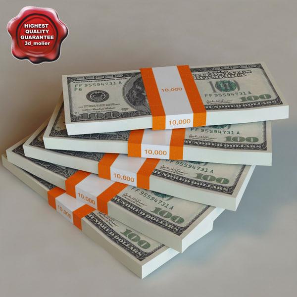 Dollar banknotes 3D Models