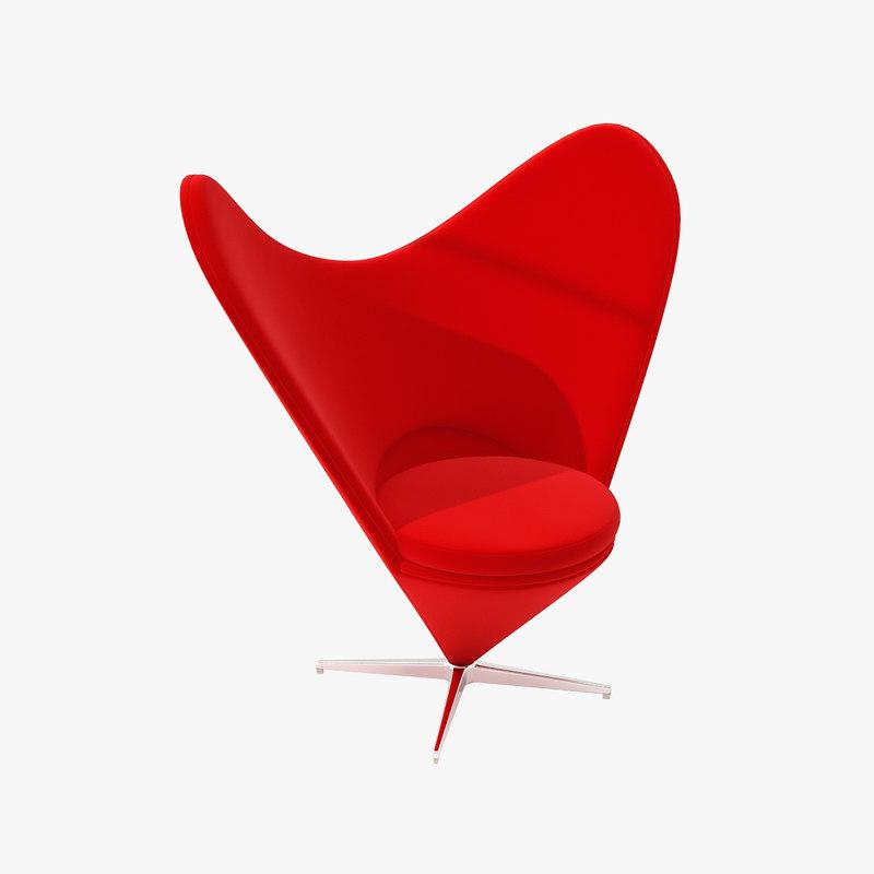 Verner Panton Heart Cone Chair Panton Heart Chair