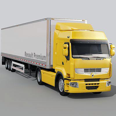 Renault Premium Truck 3D Models