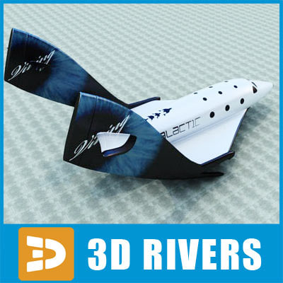 SpaceshipTwo by 3DRivers 3D Models