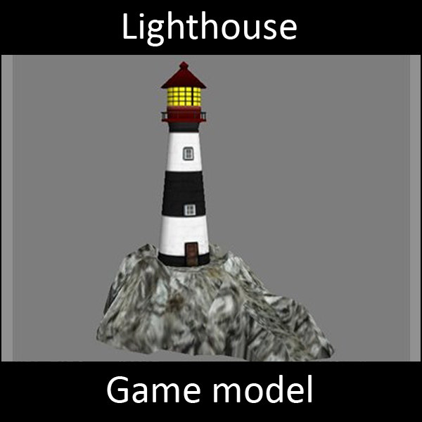 Lighthouse - Lowpoly